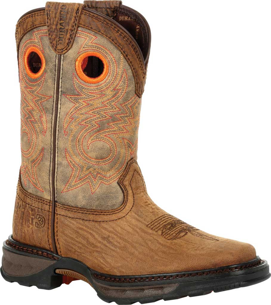 Children's Durango Boot DBT0227Y Lil' Maverick XP Big Kid Western Boot, Burly Brown/Black Synthetic/Full Grain Leather, large, image 1