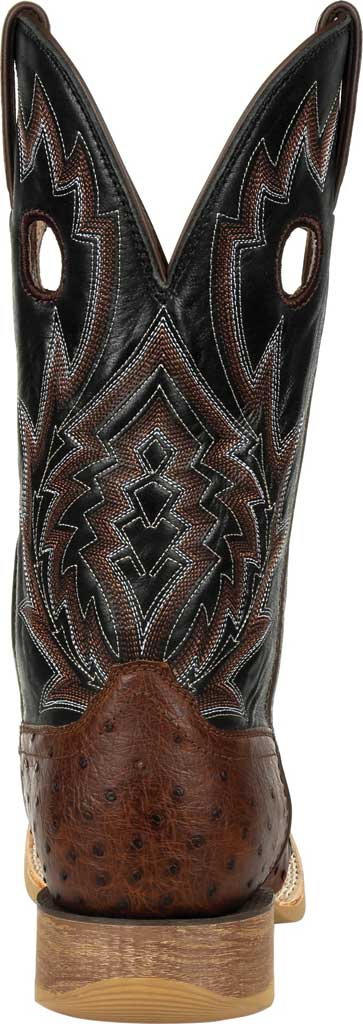 Men's Durango Boot DDB0306 Rebel Pro Oiled Ostrich Western Boot, Oiled Saddle/Black Ostrich/Full Grain Leather, large, image 4