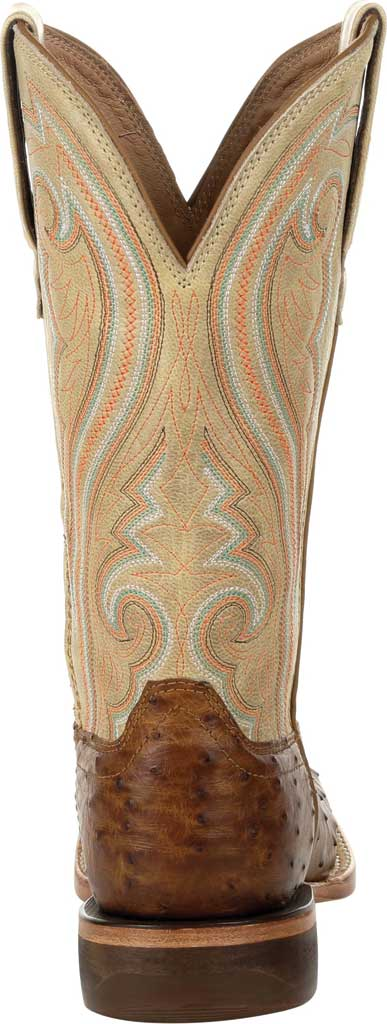 Women's Durango Boot DRD0388 Premium Exotics Quill Ostrich Western Boot, Sunset Wheat/Ivory Ostrich/Full Grain Leather, large, image 4