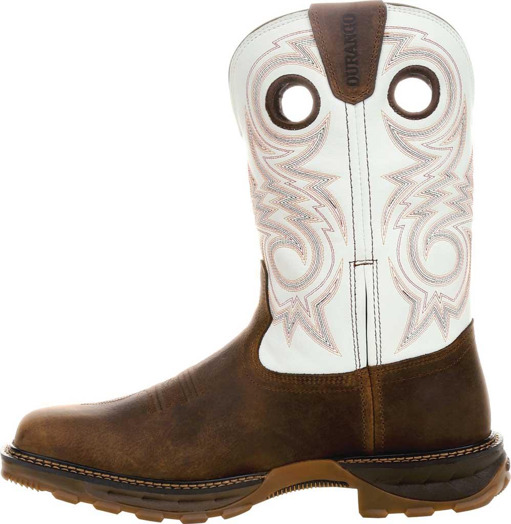 Men's Durango Boot DDB0302 Maverick XP Waterproof Western Work Boot, Chocolate/White Full Grain Leather, large, image 3