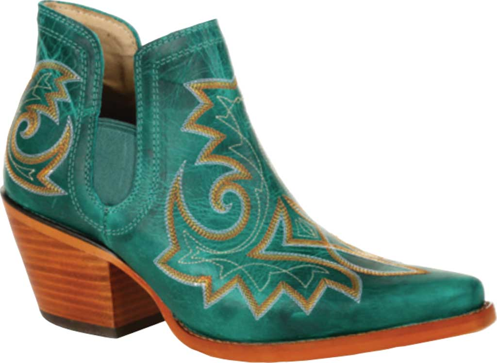 Women's Durango Boot DRD0400 Crush Western Fashion Bootie, Turquoise Full Grain Leather, large, image 1
