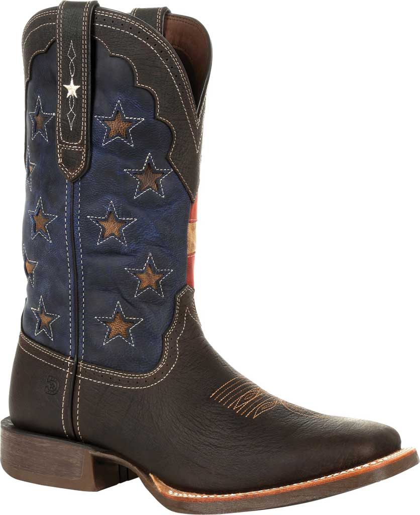Men's Durango Boot DDB0303 Rebel Pro Vintage Flag Western Boot, Dark Chestnut/Vintage Flag Full Grain Leather, large, image 1
