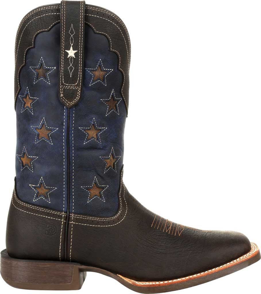 Men's Durango Boot DDB0303 Rebel Pro Vintage Flag Western Boot, Dark Chestnut/Vintage Flag Full Grain Leather, large, image 2
