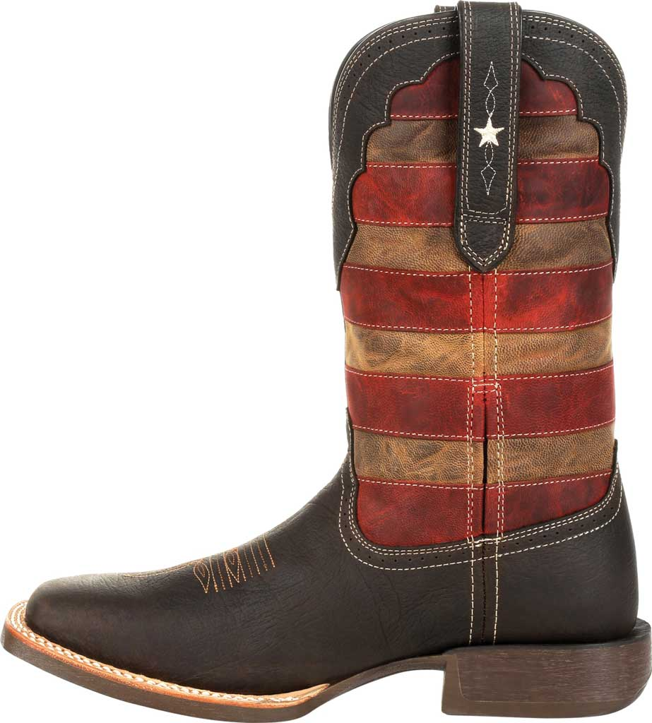 Men's Durango Boot DDB0303 Rebel Pro Vintage Flag Western Boot, Dark Chestnut/Vintage Flag Full Grain Leather, large, image 3