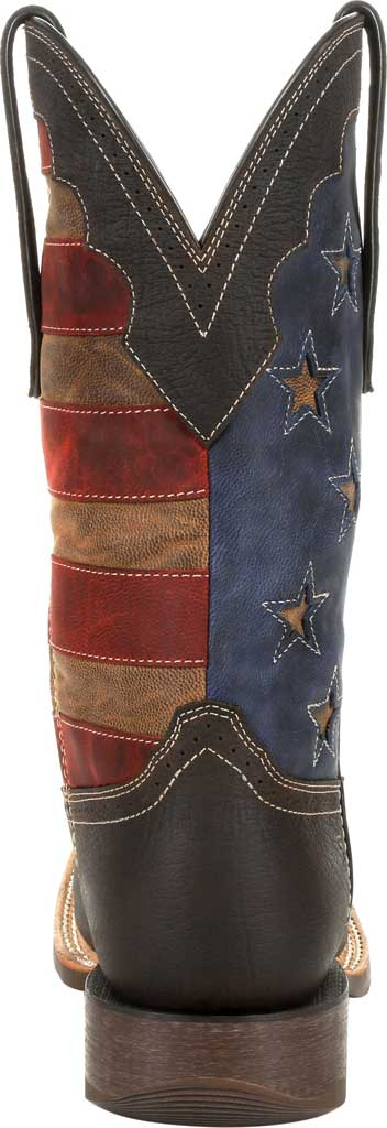 Men's Durango Boot DDB0303 Rebel Pro Vintage Flag Western Boot, Dark Chestnut/Vintage Flag Full Grain Leather, large, image 4