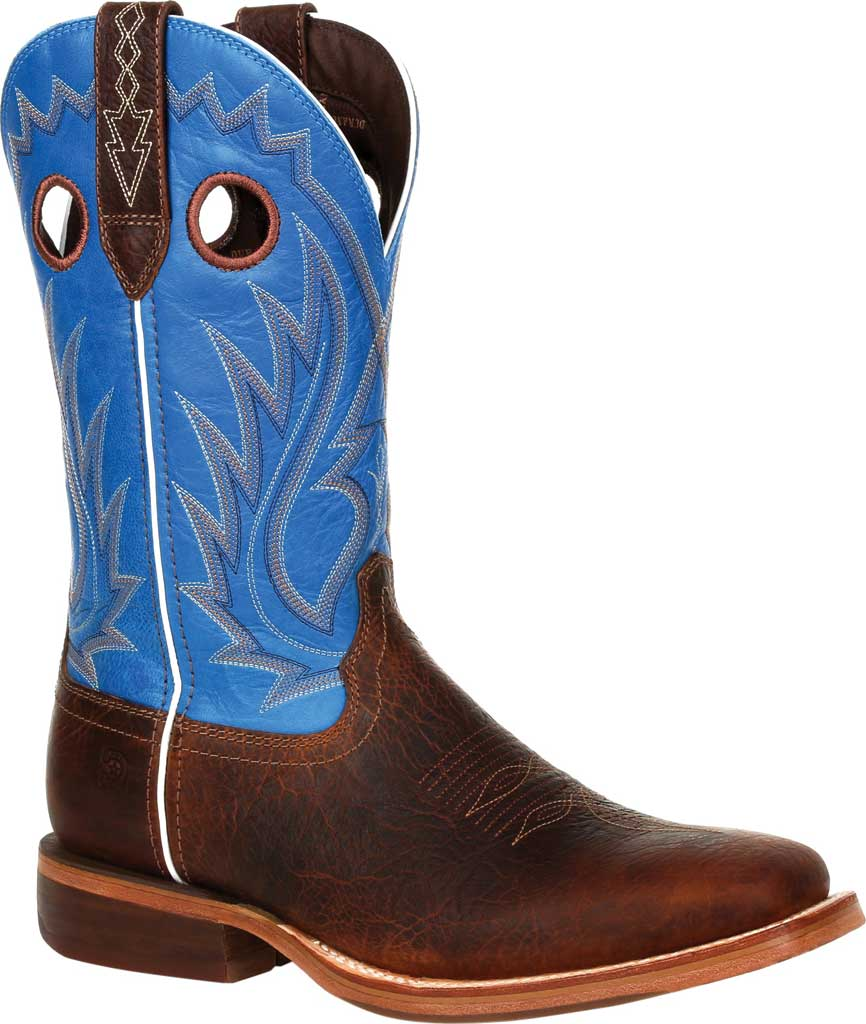 Men's Durango Boot DDB0310 Arena Pro XRT Western Boot, Bay Brown/Brilliant Blue Full Grain Leather, large, image 1