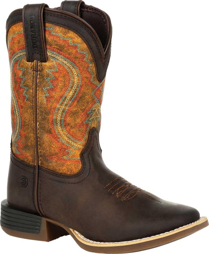 Children's Durango Boot DBT0230C Lil' Rebel Pro Little Kid Western Boot, Dark Bay/Burnt Orange Synthetic/Full Grain Leather, large, image 1