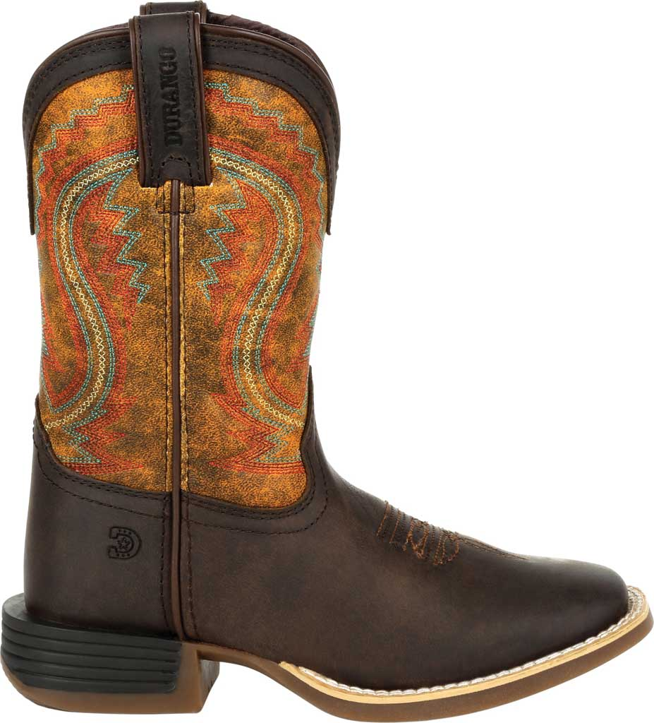 Children's Durango Boot DBT0230C Lil' Rebel Pro Little Kid Western Boot, Dark Bay/Burnt Orange Synthetic/Full Grain Leather, large, image 2