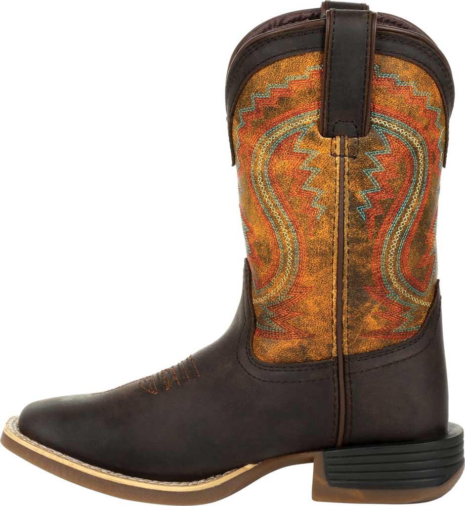 Children's Durango Boot DBT0230C Lil' Rebel Pro Little Kid Western Boot, Dark Bay/Burnt Orange Synthetic/Full Grain Leather, large, image 3