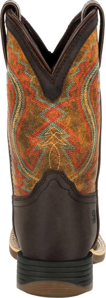 Children's Durango Boot DBT0230C Lil' Rebel Pro Little Kid Western Boot, Dark Bay/Burnt Orange Synthetic/Full Grain Leather, large, image 4