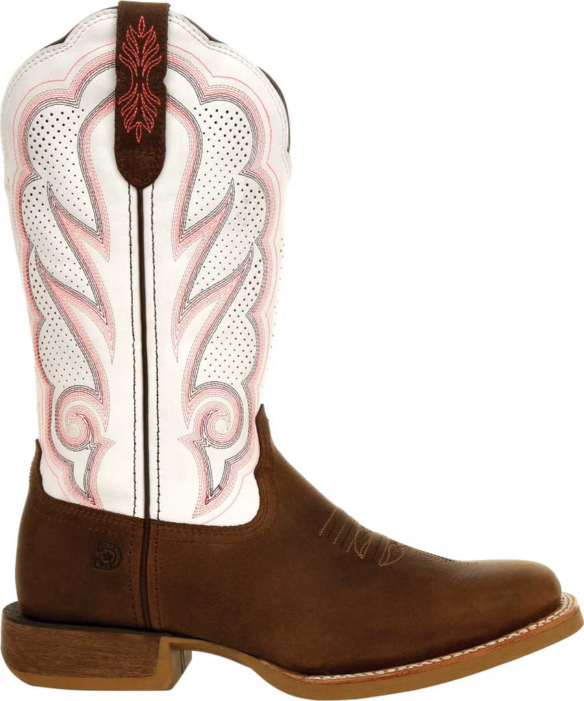 Women's Durango Boot DRD0392 Lady Rebel Pro Ventilated Western Boot, Trail Brown/White Full Grain Leather, large, image 2