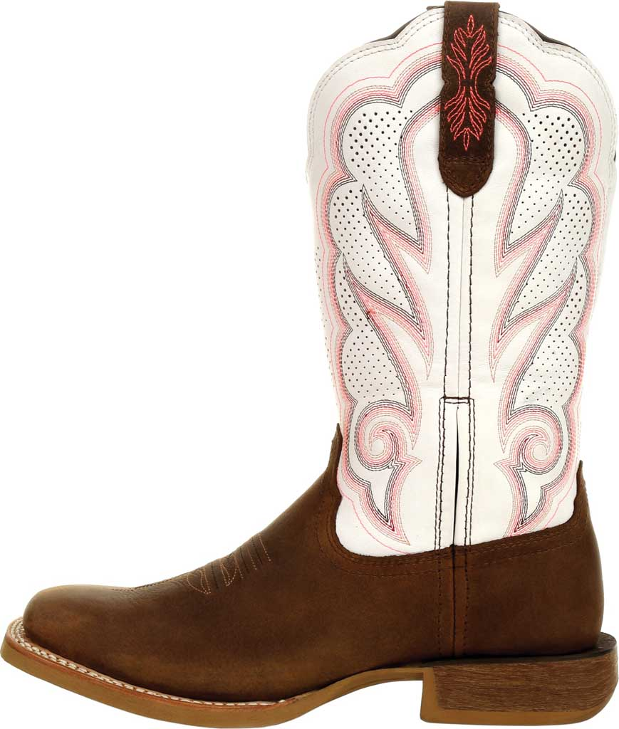 Women's Durango Boot DRD0392 Lady Rebel Pro Ventilated Western Boot, Trail Brown/White Full Grain Leather, large, image 3