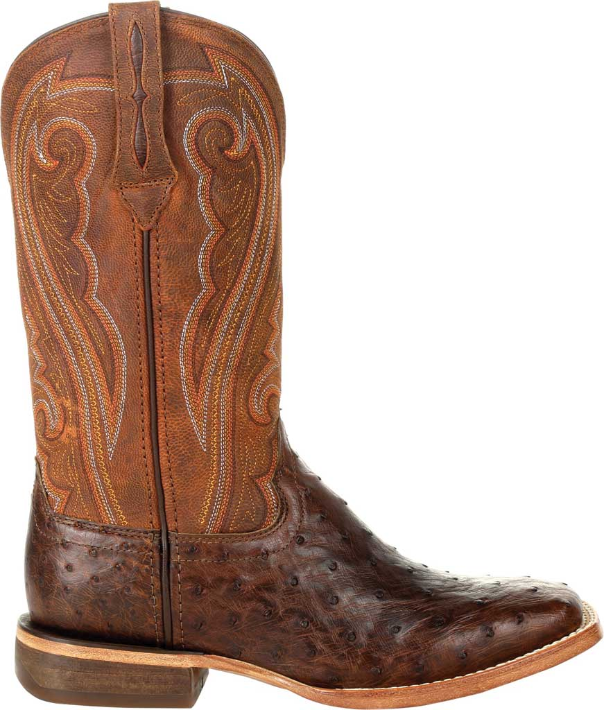 Women's Durango Boot DRD0389 Premium Exotics Quill Ostrich Western Boot, Antiqued Saddle Ostrich Quill/Full Grain Leather, large, image 2