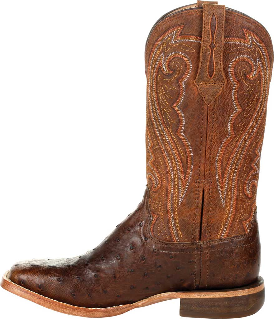 Women's Durango Boot DRD0389 Premium Exotics Quill Ostrich Western Boot, Antiqued Saddle Ostrich Quill/Full Grain Leather, large, image 3