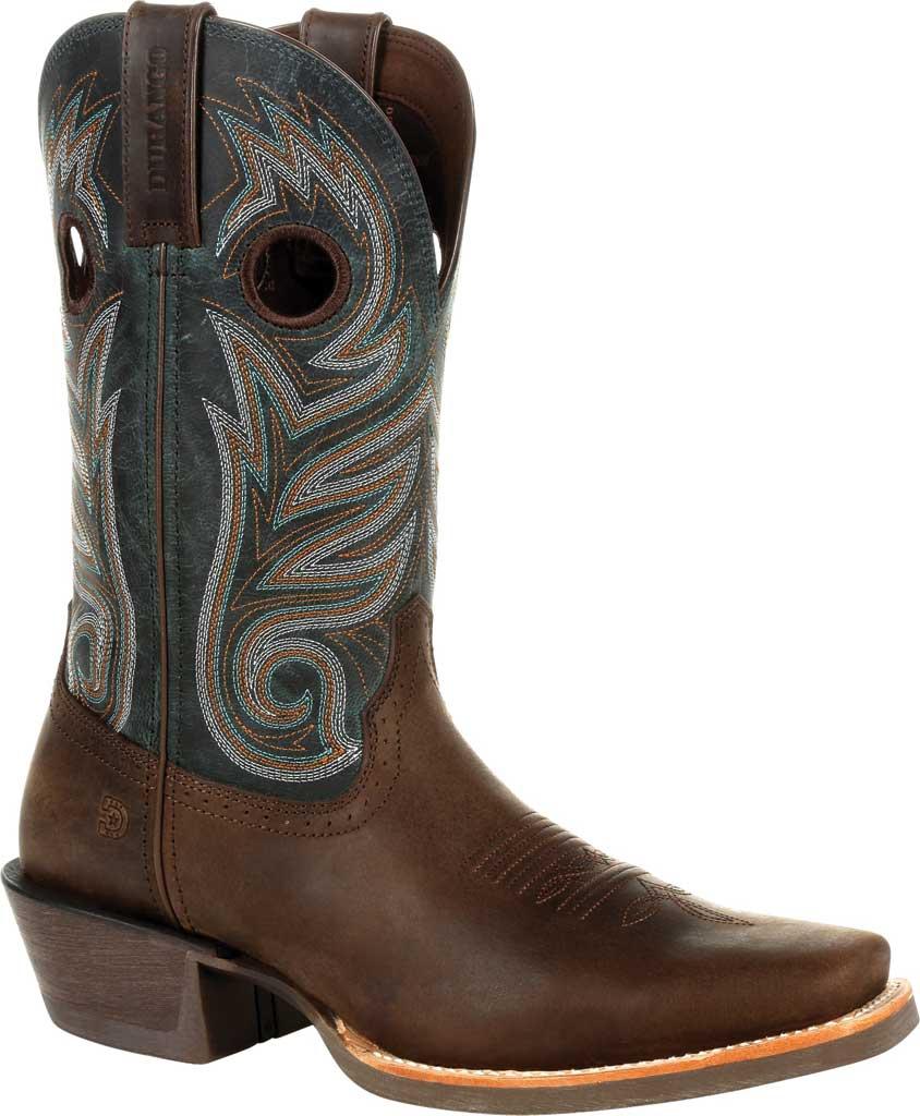 Men's Durango Boot DDB0295 Rebel Pro Western Boot, Bay Brown/Classic Teal Full Grain Leather, large, image 1