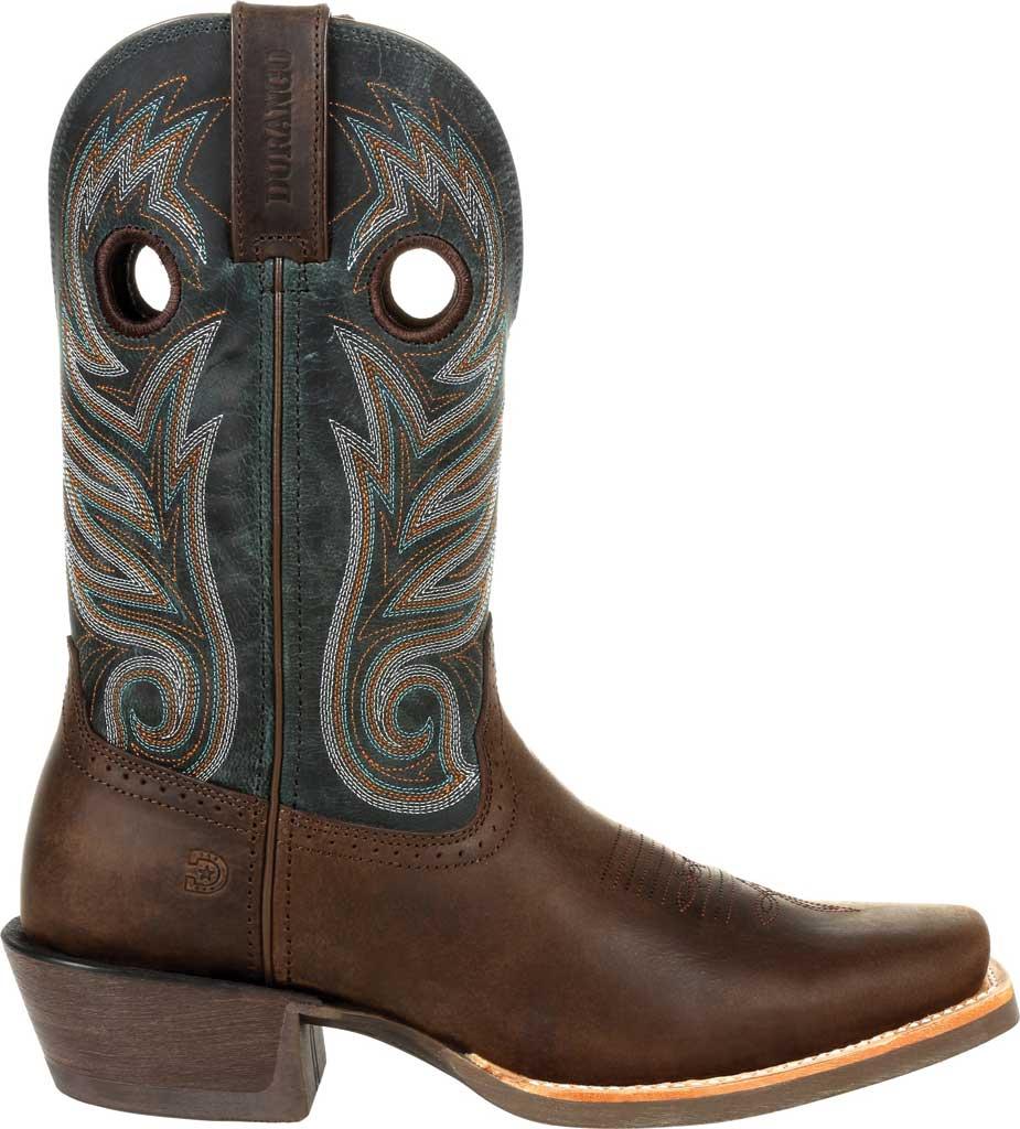 Men's Durango Boot DDB0295 Rebel Pro Western Boot, Bay Brown/Classic Teal Full Grain Leather, large, image 2