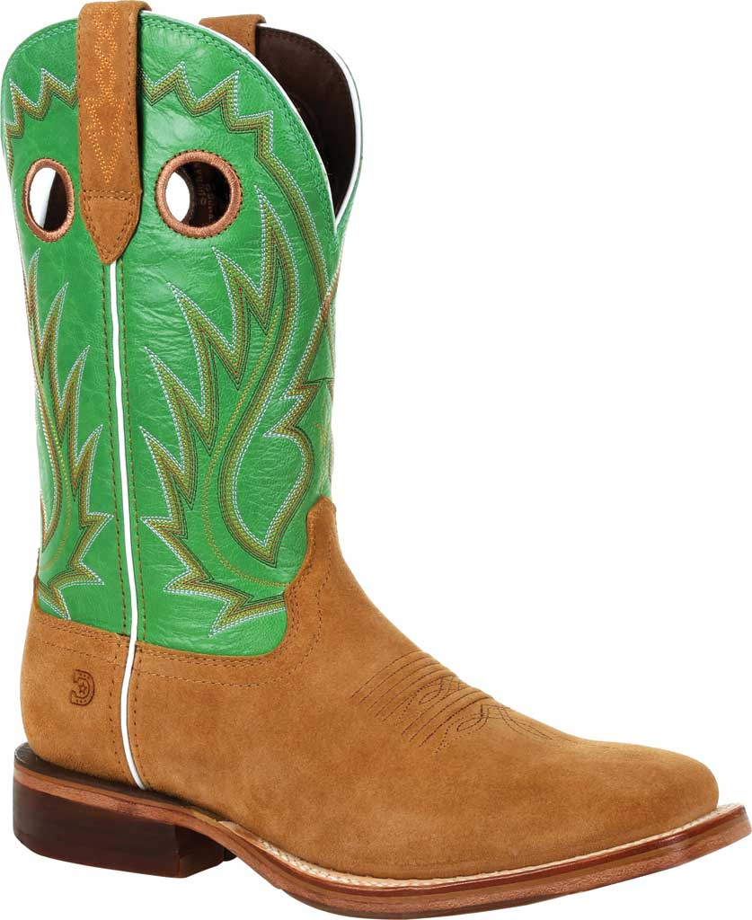 Men's Durango Boot DDB0315 Arena Pro XRT Western Boot, Cashew/Kelly Green Full Grain Leather, large, image 1