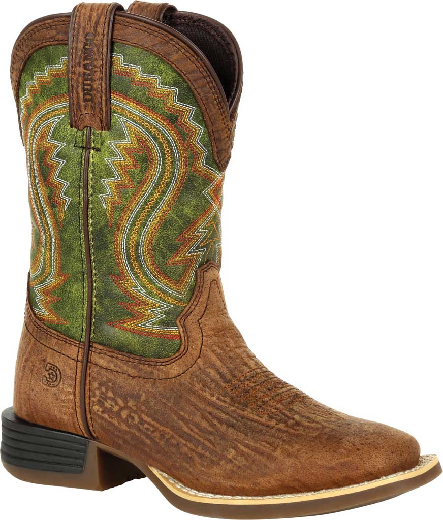 Children's Durango Boot DBT0229Y Lil' Rebel Pro Big Kid Western Boot, Old Town Brown/Briar Green Synthetic/Full Grain, large, image 1