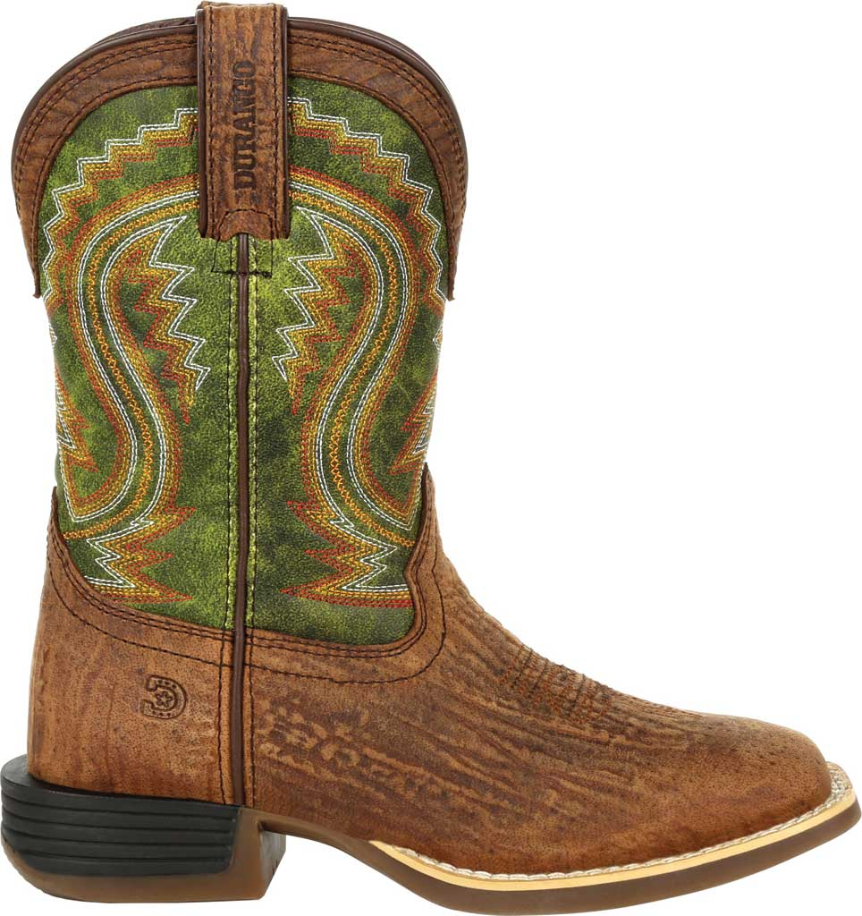 Children's Durango Boot DBT0229Y Lil' Rebel Pro Big Kid Western Boot, Old Town Brown/Briar Green Synthetic/Full Grain, large, image 2