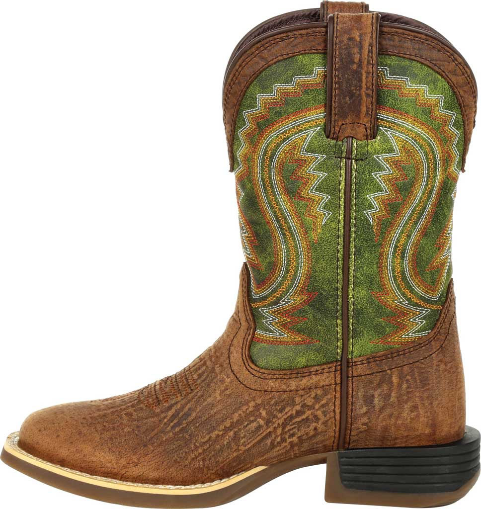 Children's Durango Boot DBT0229Y Lil' Rebel Pro Big Kid Western Boot, Old Town Brown/Briar Green Synthetic/Full Grain, large, image 3