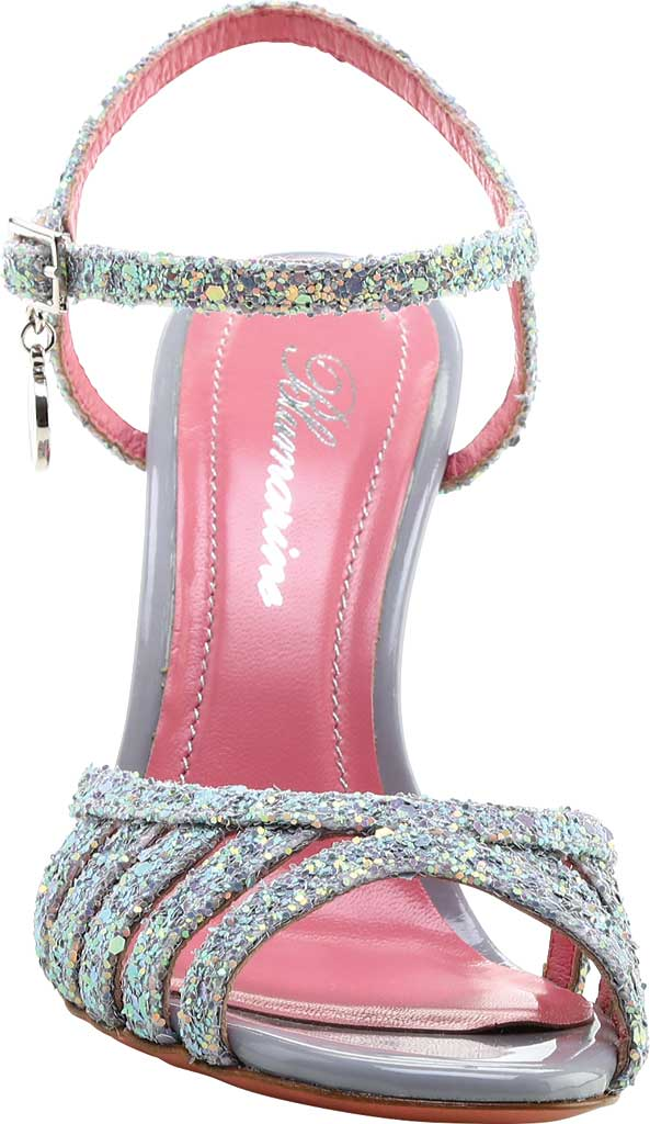 Women's Blumarine Sandalo Ankle Strap Sandal, Silver Leather, large, image 2