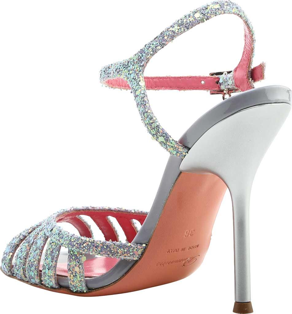 Women's Blumarine Sandalo Ankle Strap Sandal, Silver Leather, large, image 3