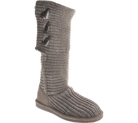 Women's Bearpaw Knit Tall, Gray, large, image 1