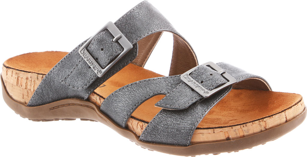 Women's Bearpaw Maddie Sandal, Charcoal Synthetic, large, image 1