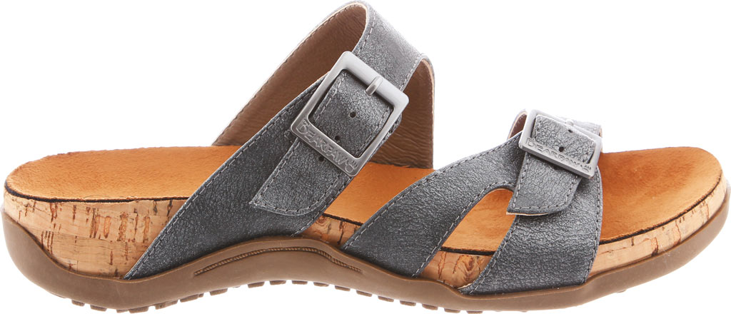 Women's Bearpaw Maddie Sandal, Charcoal Synthetic, large, image 2