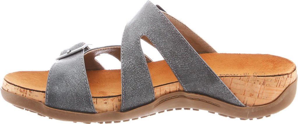 Women's Bearpaw Maddie Sandal, Charcoal Synthetic, large, image 3