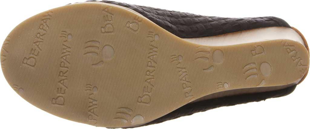 Women's Bearpaw Nina Wedge Sandal, Black II Microsuede, large, image 4