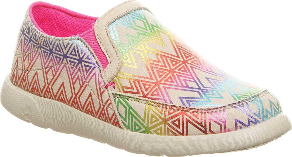 Girls' Bearpaw Sunny Slip-On Sneaker, Linen Microsuede, large, image 1