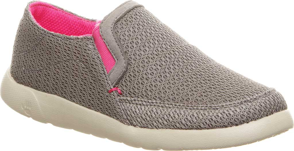 Girls' Bearpaw Sunny Slip-On Sneaker, Charcoal/Pomberry Microsuede, large, image 1