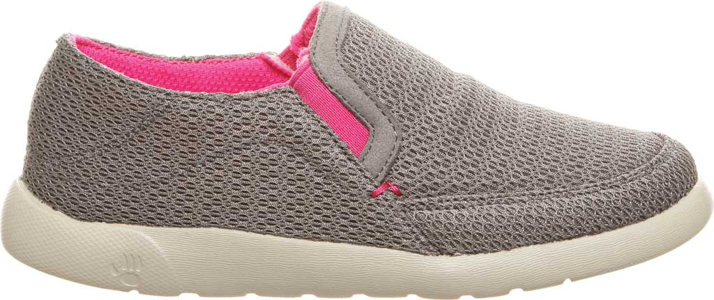 Girls' Bearpaw Sunny Slip-On Sneaker, Charcoal/Pomberry Microsuede, large, image 2