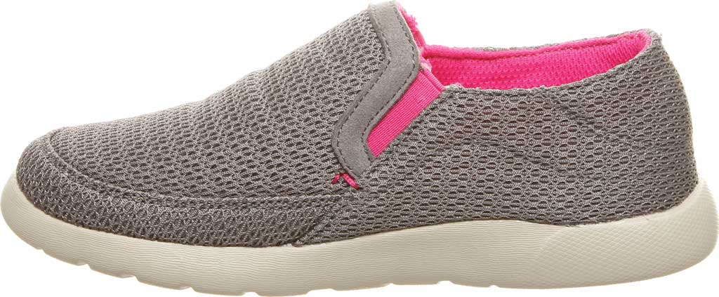 Girls' Bearpaw Sunny Slip-On Sneaker, Charcoal/Pomberry Microsuede, large, image 3