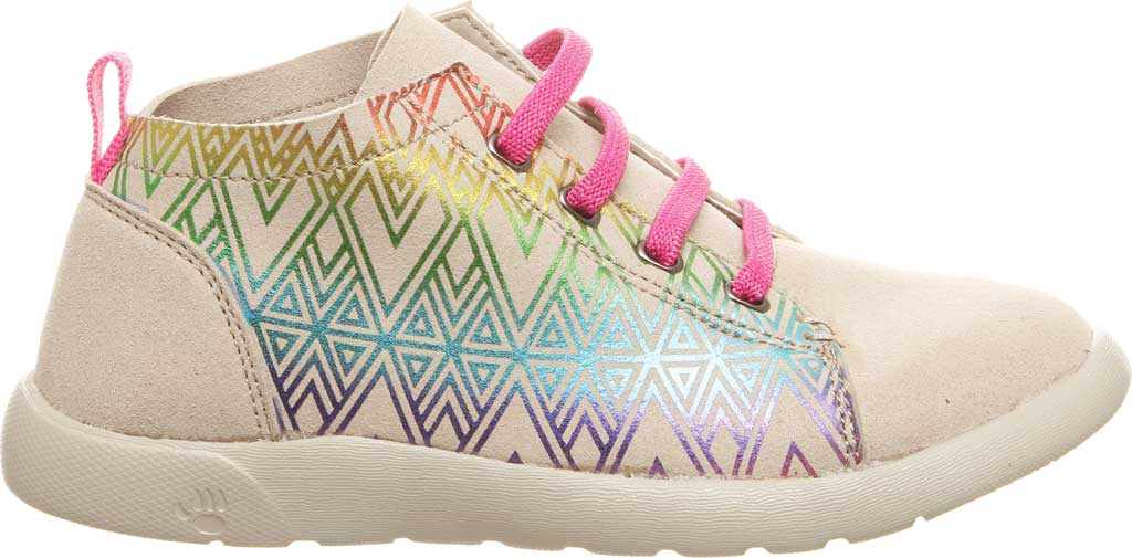 Girls' Bearpaw Gracie High Top Sneaker, Linen Microsuede, large, image 2