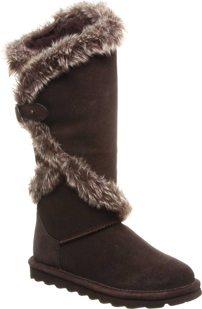 Women's Bearpaw Sheilah Knee High Boot, Chocolate Cow Suede, large, image 1