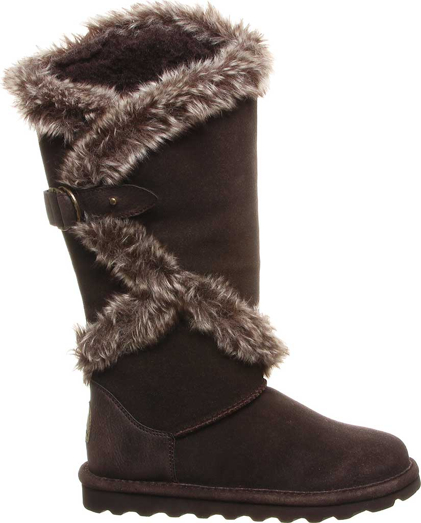 Women's Bearpaw Sheilah Knee High Boot, Chocolate Cow Suede, large, image 2