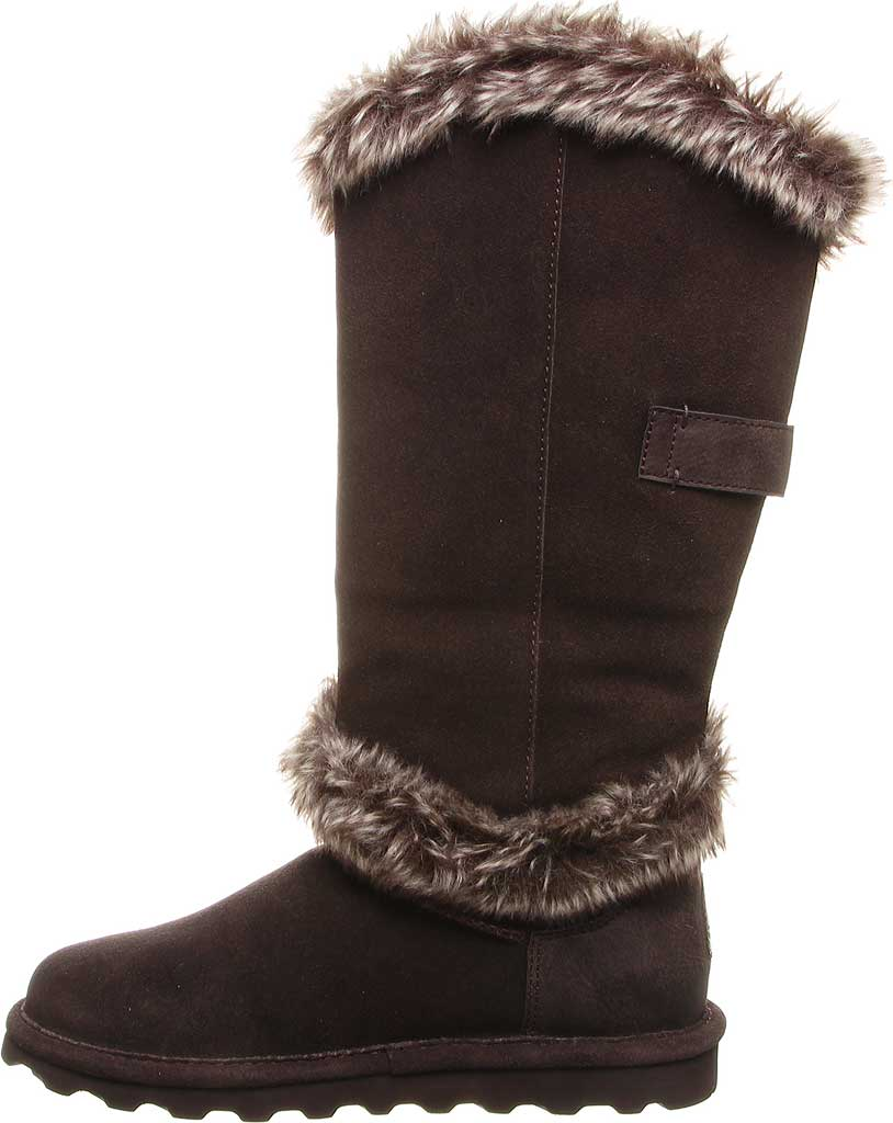 Women's Bearpaw Sheilah Knee High Boot, Chocolate Cow Suede, large, image 3