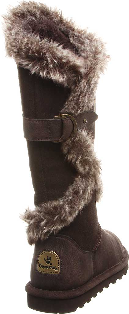 Women's Bearpaw Sheilah Knee High Boot, Chocolate Cow Suede, large, image 4