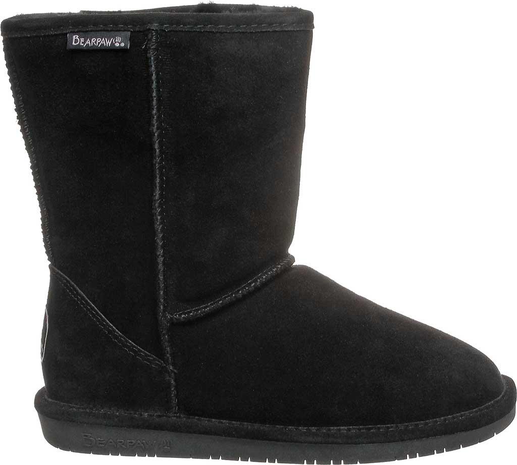 Women's Bearpaw Emma Short Wide Boot, Black II Cow Suede, large, image 2