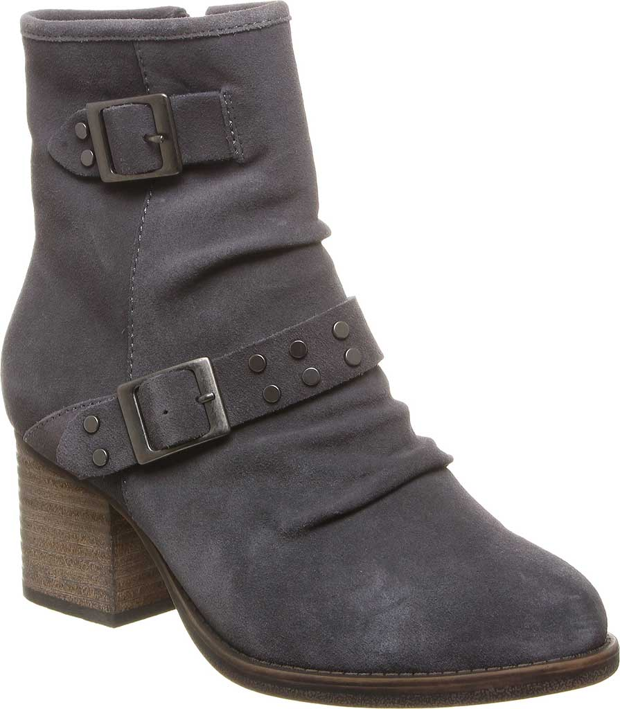 Women's Bearpaw Amethyst Bootie, Charcoal Cow Suede, large, image 1