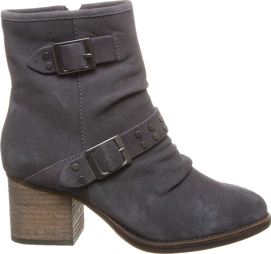 Women's Bearpaw Amethyst Bootie, Charcoal Cow Suede, large, image 2