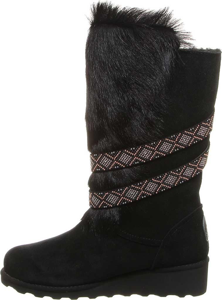 Women's Bearpaw Claudia Knee High Boot, Black II Suede/Faux Fur, large, image 3