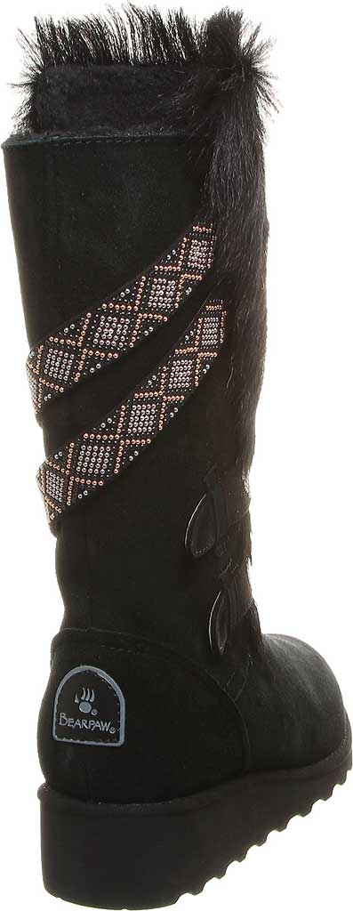 Women's Bearpaw Claudia Knee High Boot, Black II Suede/Faux Fur, large, image 4