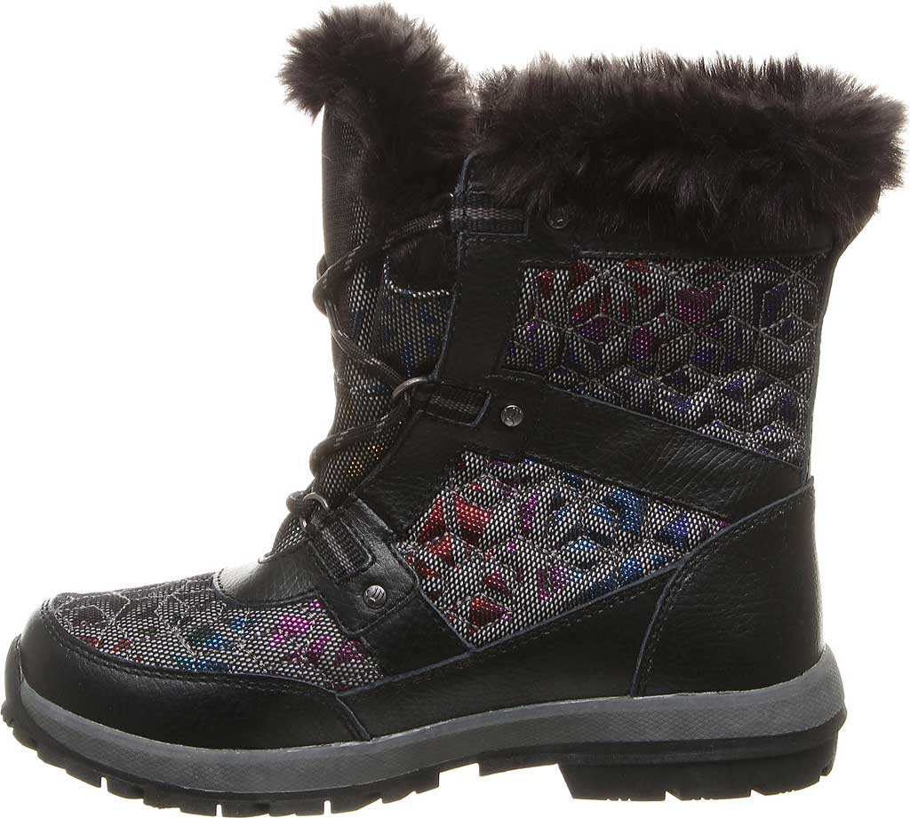 Girls' Bearpaw Marina Waterproof Boot, Black/Black Nylon, large, image 3