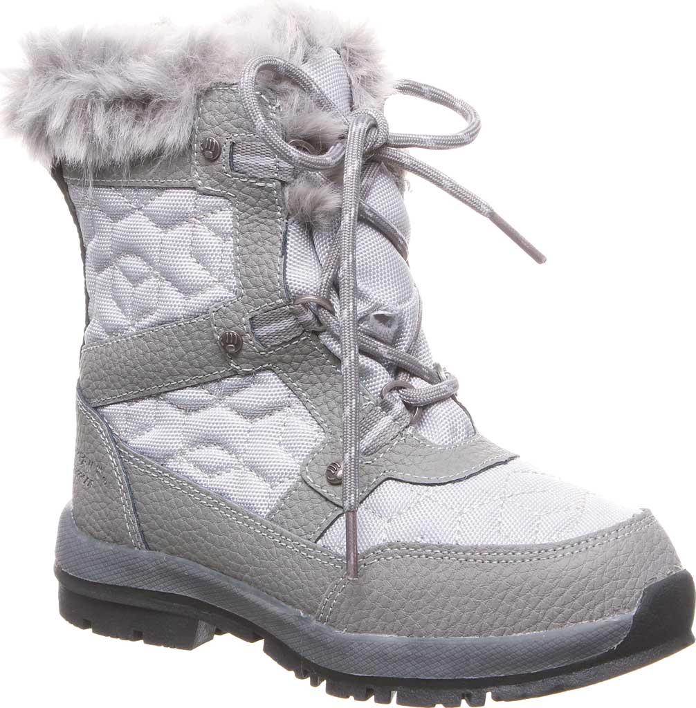 Girls' Bearpaw Marina Waterproof Boot, Charcoal/Light Grey Nylon/Action Leather, large, image 1