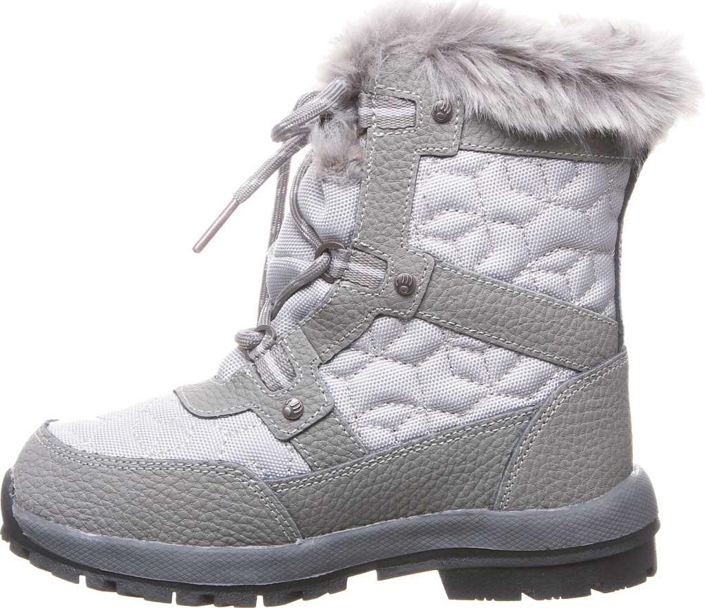 Girls' Bearpaw Marina Waterproof Boot, Charcoal/Light Grey Nylon/Action Leather, large, image 3