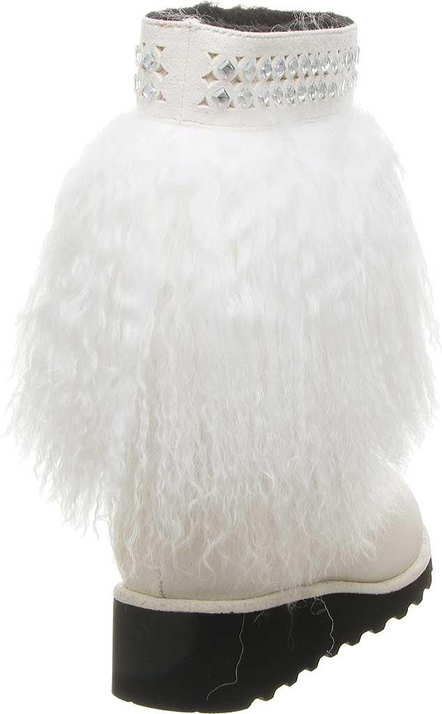 Women's Bearpaw Elise Mid Calf Boot, White Lambskin, large, image 4