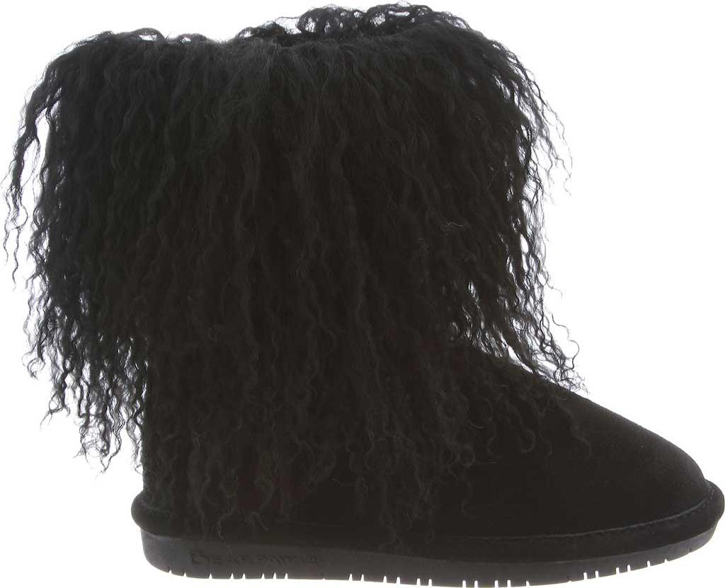 Girls' Bearpaw Boo Ankle Boot, Black II Cow Suede/Lambskin, large, image 2